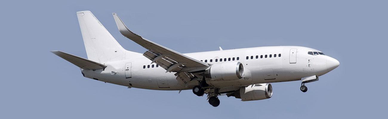 White 737 Jet Plane