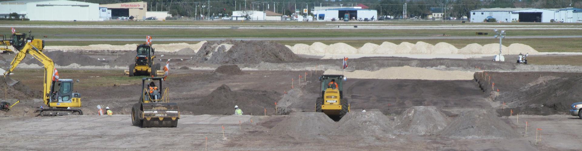 Construction work at Lakeland Airport